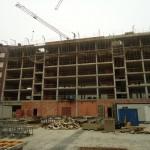 Estructura de hormigón para edificio de 83 viviendas, locales comerciales, garajes y trasteros en Durango